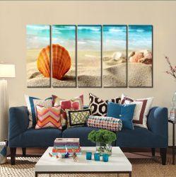 Quadro Decorativo Mar e Praia 140x65 em tecido