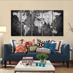 Quadro Decorativo Money Black 140x65 em tecido