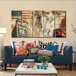 Quadro Decorativo New York 140x65 em tecido