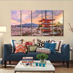 Quadros Decorativos Japão Oriental 65x140cm em Tecido